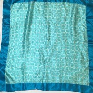 Coach silk scarf.